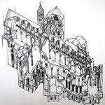 Canterbury Cathedral Cutaway by Jonathan Foyle